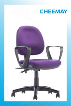 small comfortable staff chair with polypropylene armrest office chair with high density molder foam chair