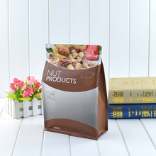 Customized Biodegradable Gravure Printing Side Gusset Matte Plastic Packaging Bags for Nut