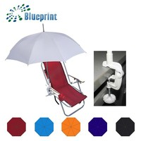 New Design White Plain Clip On Umbrella Promotional Gifts For Chair Bike
