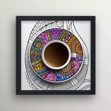 Assorted flower pattern coffee cup decorative wall paintings