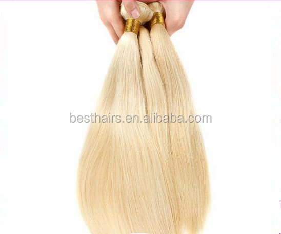 5A!!!100% virgin Brazilian <strong>hair</strong> 613# light blonde Straight <strong>hair</strong> shade 50 grams / 6 PCS