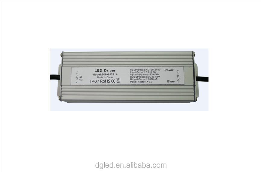 china Professional factory 1500ma ip67 60w led driver waterproof power supply