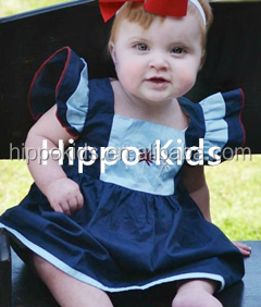Wholesale toddler royal firecracker dress frock design for baby girl girls party dresses