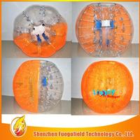 1.2m/1.5m pvc/tpu promotion bumper bubble football ball machine football bubble soocer
