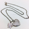 diamond chain necklace high-grade silver chain for lady shiny diamond chain with pendant