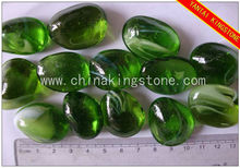 Green mixed color of frosted surface glass arts