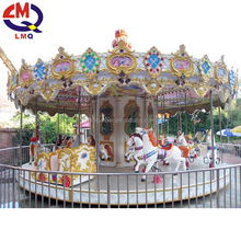china wholesale factory horses colorful pedal carousel for sale