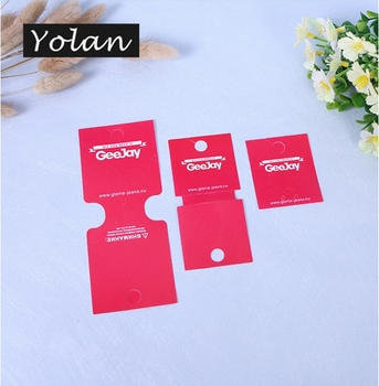 Earring Cards Brand Logo custom printed necklace earring cards PVC display fashion jewelry card
