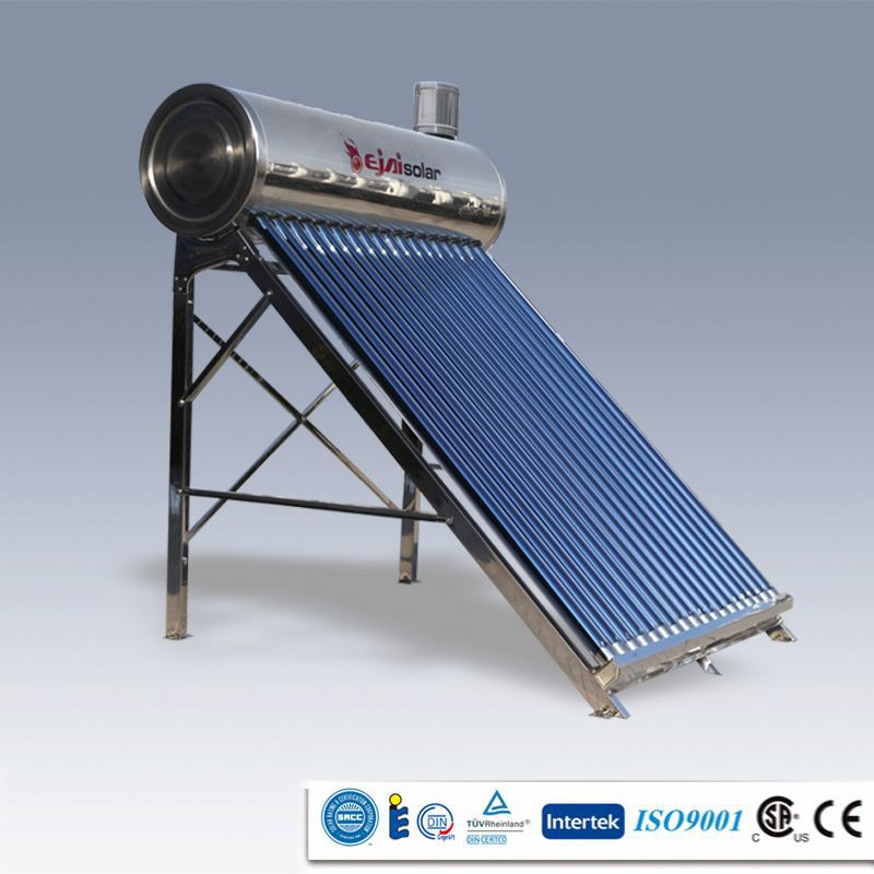 Good Quality Stainless Steel 150L aluminium alloy Non pressure solar water heaters