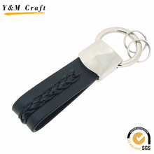 Braided leather keychain,custom lanyard keychain wholesale