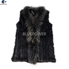 Fashion Gilet Knitted Rabbit Fur Winter