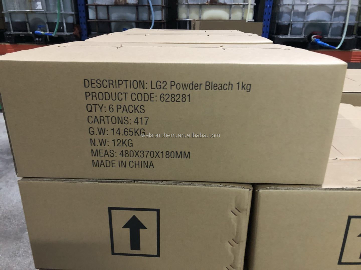 1kg Laundry bleach powder with scoop