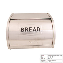 BX035 Stainless Steel Bread Container Food Storage Box With Lid