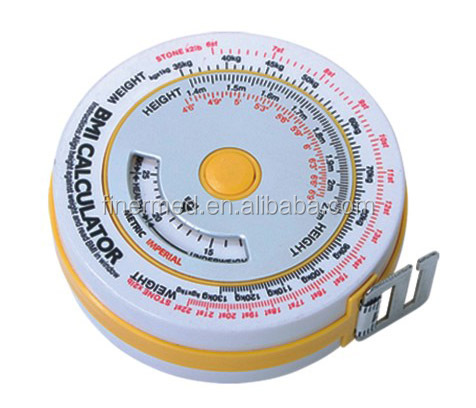 Round Retractable BMI Tape Measure