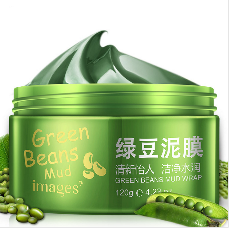 Deep cleansing oil control balance anti-acne tendering skin canned nursishing green bean extract mud facial mask