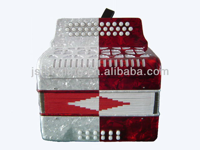 31button 12bass diatonic button accordion in two colors