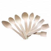 High Quality Flatware Disposable Wood Restaurant Spoons