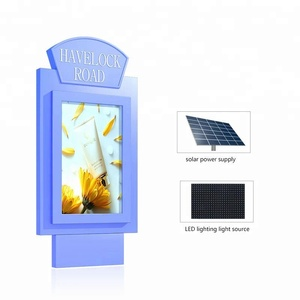 outdoor advertising light box solar panel road signs taxi stop