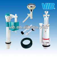 Toilet flush valve of hand operate control valve and inlet water valve