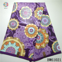 BW61021- (21) stock cheap price lilac color wax printing fabric african for dressing