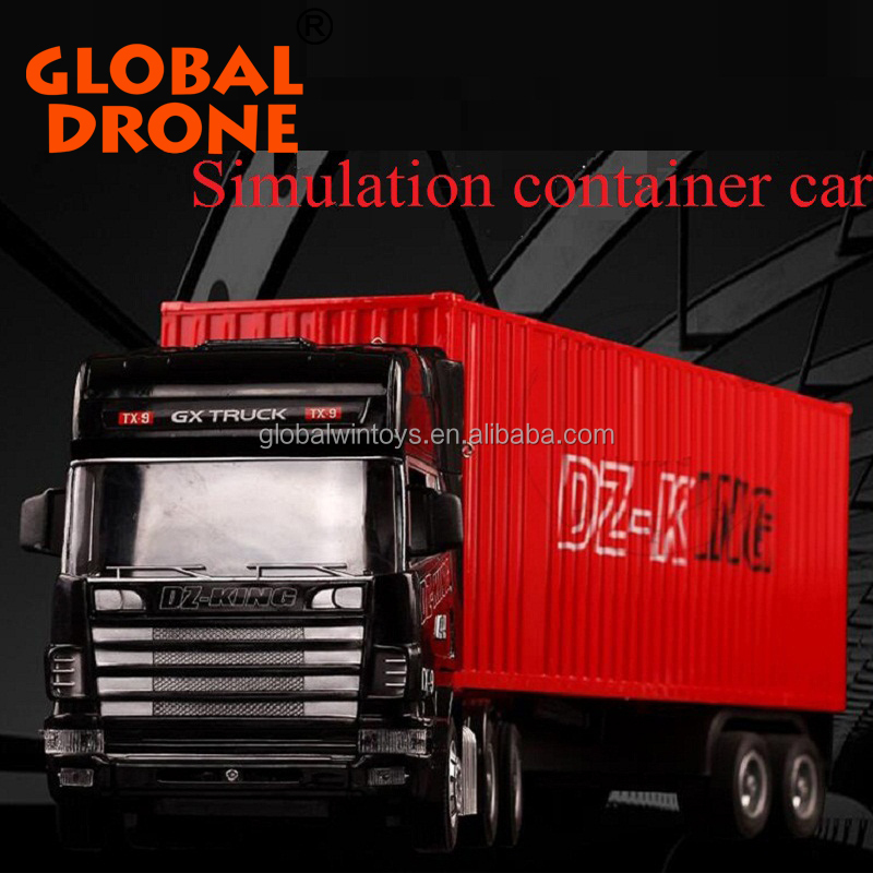 Best promotion electrical Rc tractor trailer puliing trucks toy for sale rc container truck