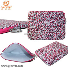 Leopard neoprene sleeve for tablet 10, pink neoprene seelve for women