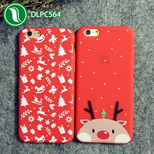 phone accessories hot christmas gift Soft TPU elk christmas mobilephone cover for iPhone 6
