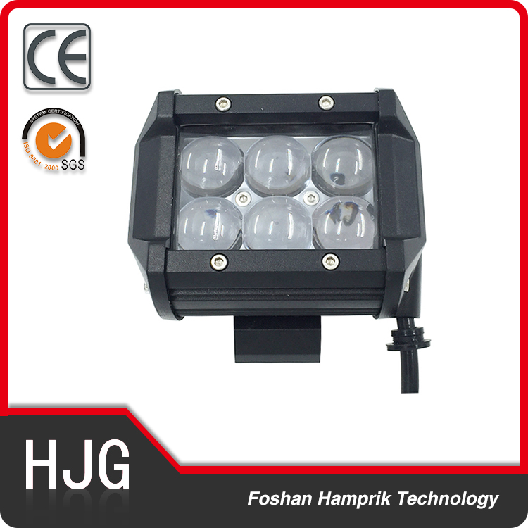 Hot sale 18W Dual Row led work light bar cheap ip67 off road light bar
