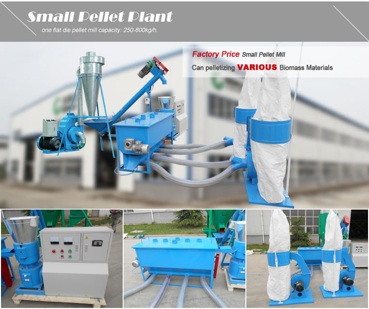 Wholesale price small flat die biomass pelleting / pellet making equipment straw hay rice husk pellet machine