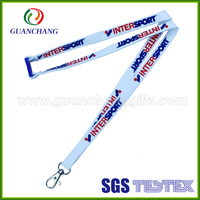 Polyester printed id card holders lanyard for nike china wholesale