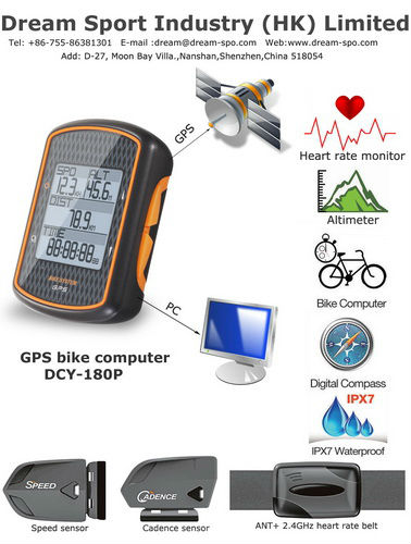 2013 New Fashion Bicycle Computers With Chest Belt Transmitter universal motorcycle speedometer