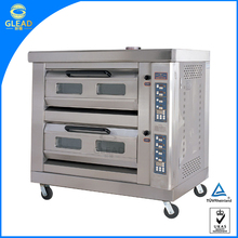 Professional stainless steel double deck pizza oven/steel pizza oven