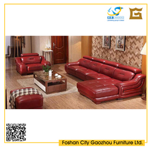 Cheap Sofa Furniture Made of Wood&Leather Durable