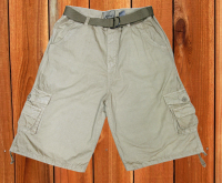 LOOSE CARGO SHORTS WITH BELT