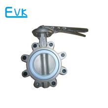 Inox 304 water 6 inch butterfly valve