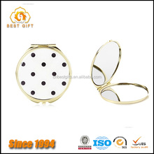 Guangdong Factory Custom Cheap Promo Gifts Metal Round Gold Sided Small Pocket Makeup Mirror
