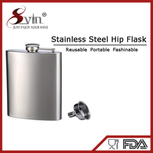 Stainless steel 8oz cube Nip hip flask for Camping