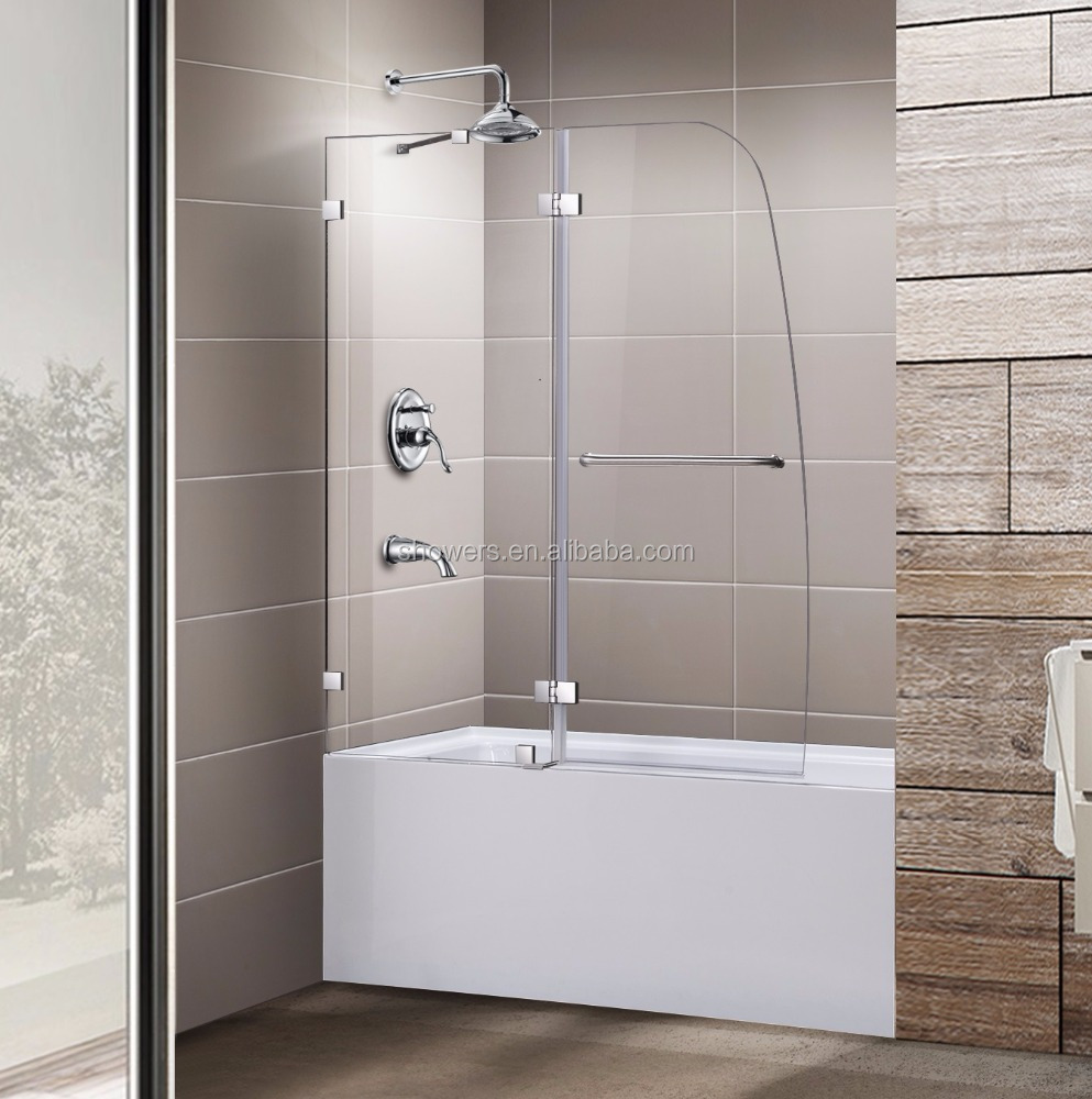five years warranty bathtub shower doors frameless and adjustable seamless shower enclosures