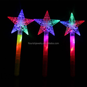 LED promotion gifts star flashing light glow stick for events or party