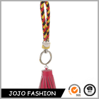 New Production Can Custom Car Brand Genuine Leather Tassel Keychain For Charm Bag