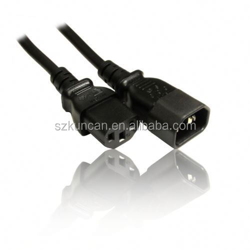 IEC male to female cable C13 to C14 IEC Extension Cable Monitor to PC Power Lead