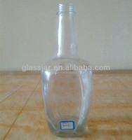 long neck 1L liquor glass bottle