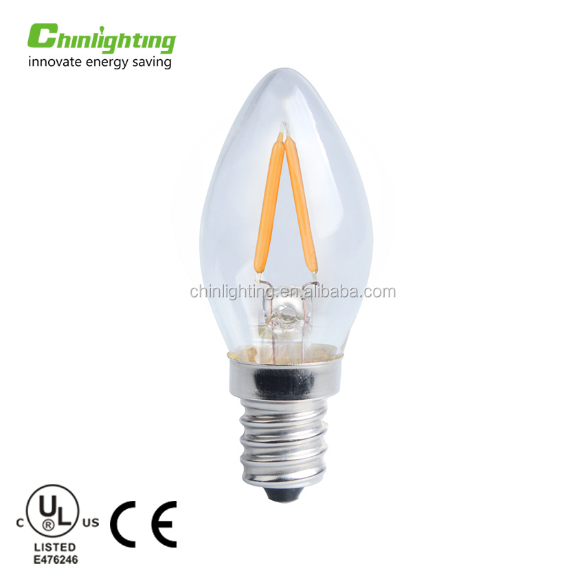 New vintage mini led light bulb C7, mini christmas light bulbs with UL/CUL approval