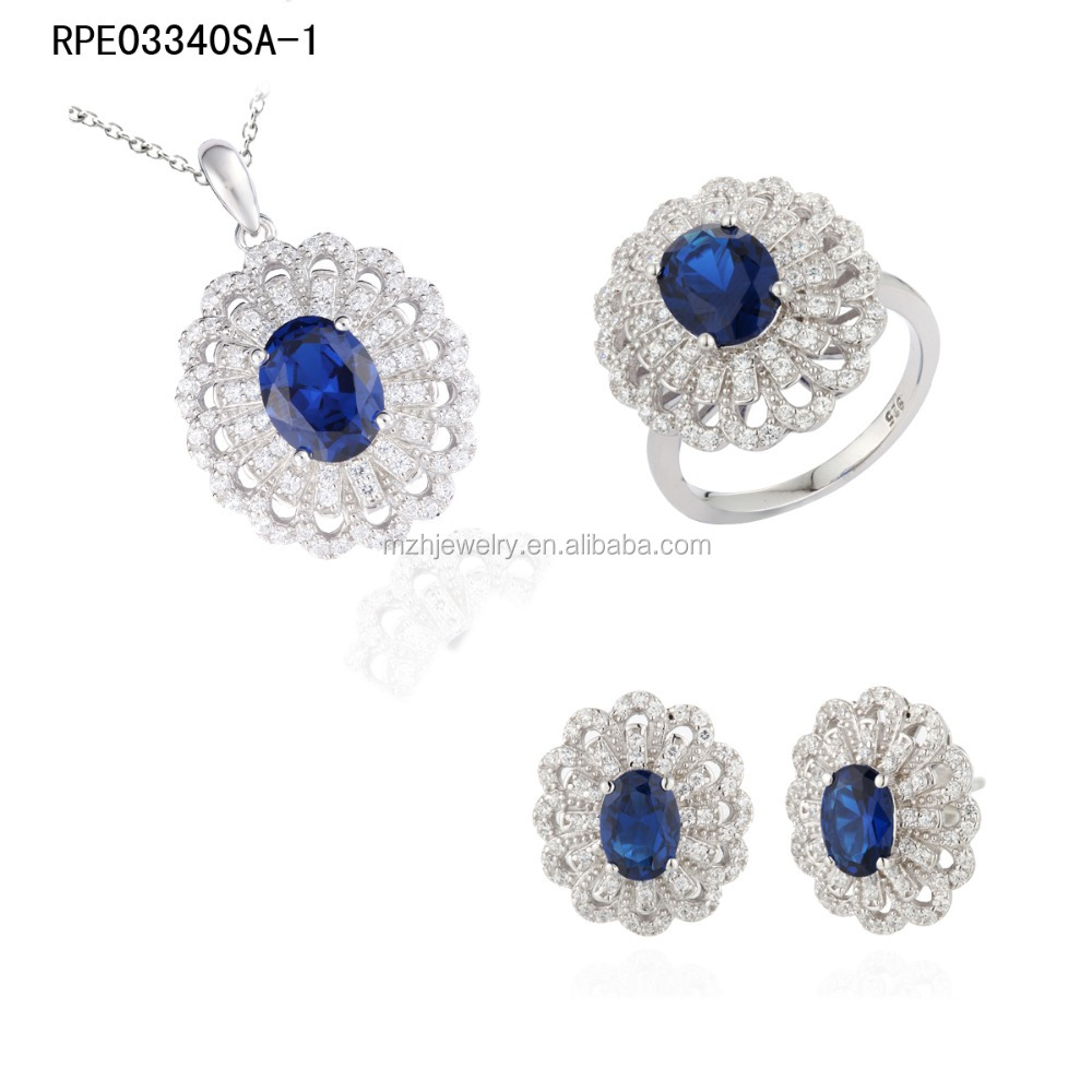 China Wholesale Cheap 925 Sterling Silver Jewelry Sets with Rhodium plated