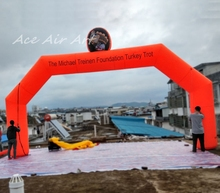 Outdoor Turkey Trot inflatable tire arch for thanksgiving Day in US for party