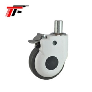 Medical Thermo Plastic Rubber(TPR) Central Precision Ball Bearing Swivel Caster Wheel with Brake