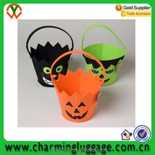 halloween decoration felt basket/colorful candy packing bag manufacture wholesale