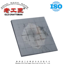 Tungsten cemented carbide plate for chute liner