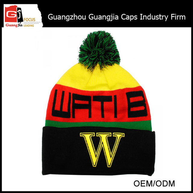 aec7dbaa7e4 Guangjia Hat Factory Custom Knitted Women Baby Winter Beanie Pom-Pom Hat  For Wholesale