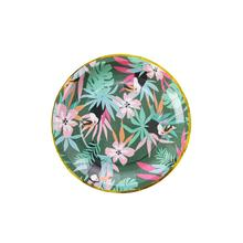 Wholesale Summer Boho Jungle Party Decorations Bulk Round Custom Paper <strong>Plates</strong>